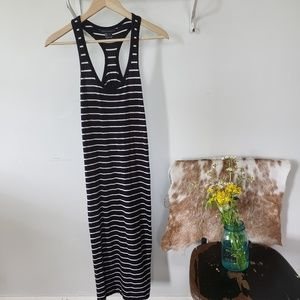 French Connection striped racerback cotton dress